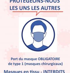 interdiction masques en tissu